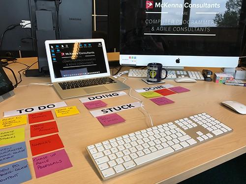 Desktop Kanban at McKenna Consultants